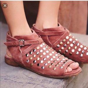 Free People Gemma leather studded sandals